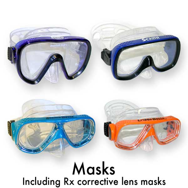 snorkeling gear masks