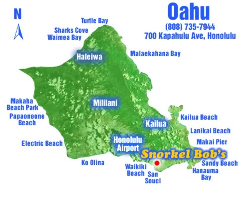 Oahu snorkel sites snorkel bob 39 s for Fishing stores oahu