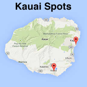 Kauai snorkel map